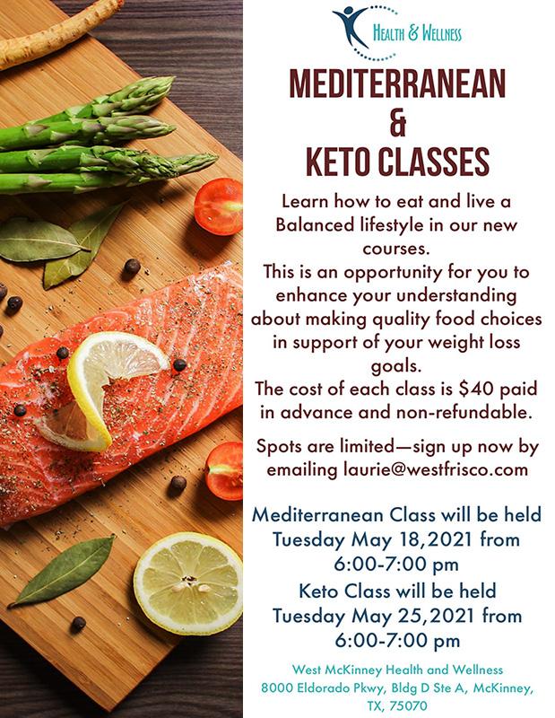 mediterranean and keto classes